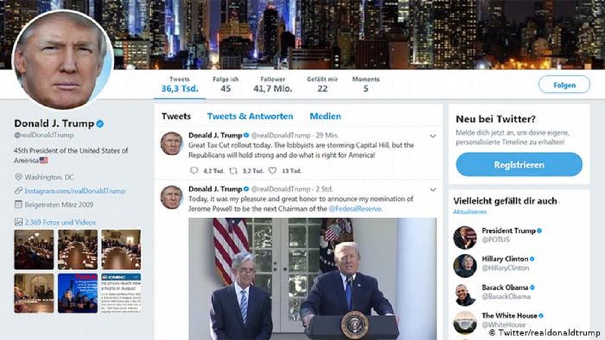 توییتر ترامپ مسدود شد