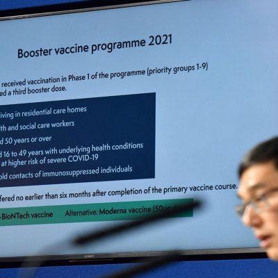 تزریق دوز تقویت کننده واکسن کرونا در بریتانیا